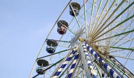 吸引力大ferris公园轮子 免版税库存照片