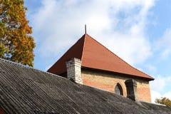 吸引力资本城堡城市国家(地区)第一个海岛湖立陶宛找出中世纪中间名多数一普遍的旅游trakai 库存照片