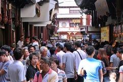 吸引旅游人群巨大的人的站点 库存照片