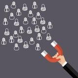 吸引顾客和客户对事务 向量例证