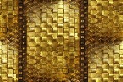吸收黄铜雕刻了藤条木头 免版税库存照片