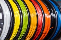 吸收3d打印机的导线塑料 免版税库存照片
