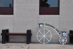 吸烟区 免版税库存照片