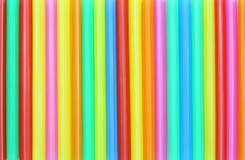 吸管五颜六色的摘要 库存图片