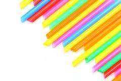 吸管五颜六色的摘要 免版税库存照片