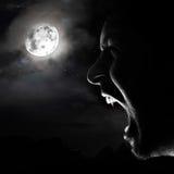 吸血鬼夜 免版税库存照片