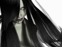 吸血鬼妇女 库存照片