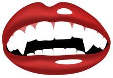 吸血鬼牙嘴例证 免版税图库摄影
