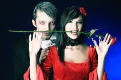吸血鬼的夫妇 免版税库存照片