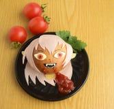 以吸血鬼的形式创造性的三明治 库存照片