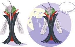 吸血鬼蚊子 免版税库存图片