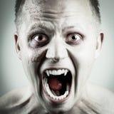 吸血鬼面孔 免版税库存照片
