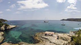 吹了爱琴海,基克拉泽斯, 免版税库存图片