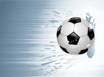吹动足球 免版税库存照片