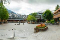 吹口哨城市不列颠哥伦比亚省加拿大 免版税库存图片