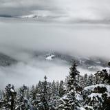 吹口哨山景在冬天 免版税图库摄影
