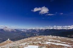吹口哨山,贾斯珀国家公园 免版税图库摄影