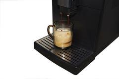 吹咖啡煮浓咖啡器 免版税库存图片