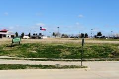 吹在风的得克萨斯旗子 库存图片