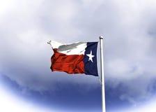 吹在风的得克萨斯旗子 免版税图库摄影