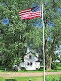 吹在风的旗子 免版税图库摄影
