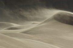 吹在风的沙丘的沙子 免版税库存照片