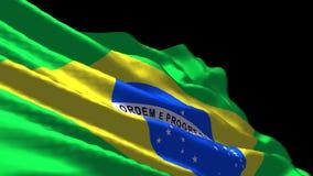 吹在风的巴西旗子 皇族释放例证