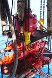 吹灭海上钻探钻机的防护设备 图库摄影