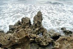 吹的岩石 免版税库存图片