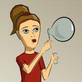 吹的泡影女孩少许肥皂 库存图片