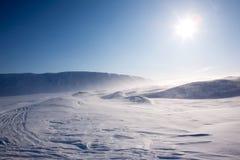 吹的雪 免版税图库摄影