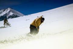 吹笛者挡雪板 库存照片