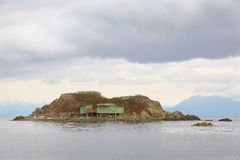 吹笛者盐水湖棚子,纳奈莫 免版税库存图片