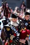 吹笛者苏格兰人 库存图片