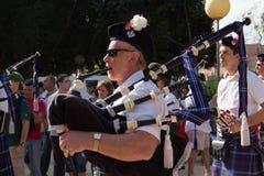 吹笛者苏格兰人 免版税库存照片