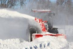 吹风机红色雪 免版税图库摄影