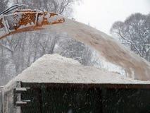 吹风机雪 免版税库存图片