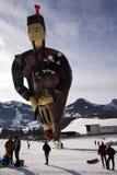 吹风笛者气球苏格兰人 免版税库存照片