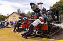 吹风者蒸汽引擎机车 库存照片