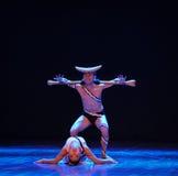 吼声差事到迷宫现代舞蹈舞蹈动作设计者玛莎・葛兰姆里 库存照片