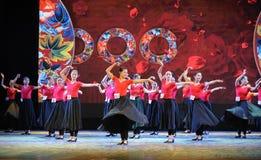 维吾尔舞蹈基础这全国舞蹈训练 免版税库存图片