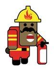 呆笨的人消防员 库存照片