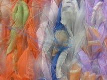 呈杂色的背景织品编织的毛线粗野的明亮的颜色透明硬沙 库存照片