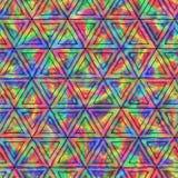 呈虹彩三角的创造性的无缝的样式 免版税库存照片