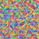 呈虹彩三角的创造性的无缝的样式 库存照片