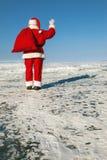 告别圣诞老人 免版税库存图片