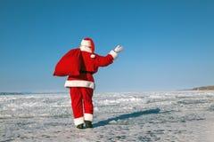 告别圣诞老人 库存照片