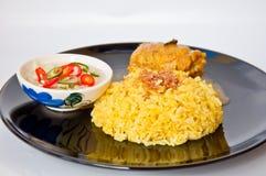 告诉可口食物kai khao mok穆斯林泰国 免版税库存图片