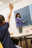告诉实习教师 免版税库存照片