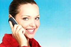 告诉电话妇女 免版税库存照片